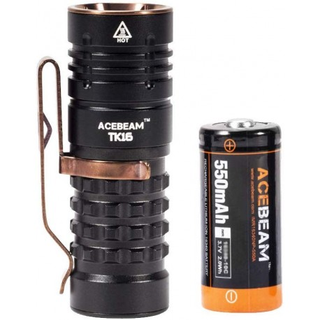 ACEBEAM TK16 1800LM Cor de cobre natural Lanterna de bolso 3x