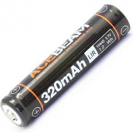 Bateria de Lítio 10440 acebeam Li-ion Recarregável para UC15, 3.7 V 320mAh