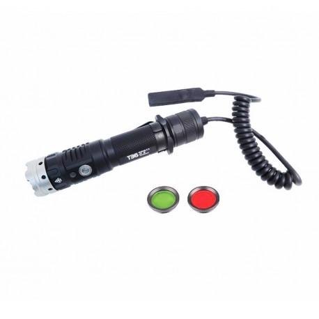 Acebeam T36 kit de caça lanterna recarregável USB-C diodo