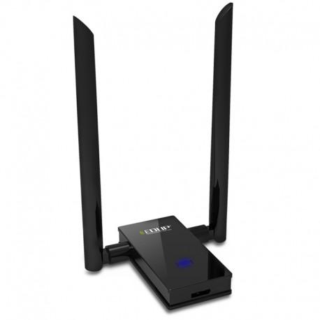 Adaptador USB WIFI de banda dupla AC 1200Mbps com antenas
