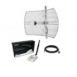 Pack Antenne Parabolique WiFi + Kit Alfa Network AWUS036NHR 24dBi Grid