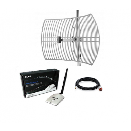 Pack Parabolic WiFi Antenne + Alfa Network AWUS036NHR 24dBi