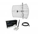 Pack antenna WiFi parabolica + kit rete Alfa AWUS036NHR 24dBi Grid