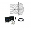 Pack Antenne Parabolique WiFi + Kit Alfa Network AWUS036NHR 24dBi Grid