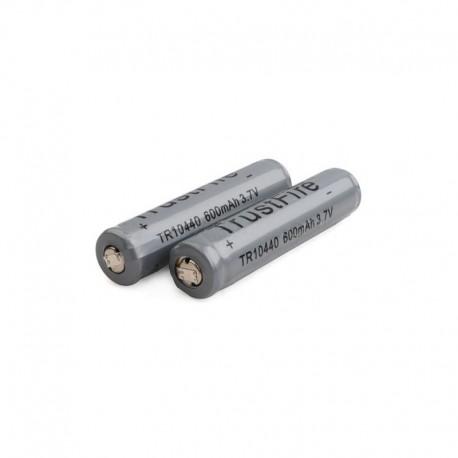 Bateria de Lítio 10440 600mah Recarregável Trustfire Cinza 3.7 v