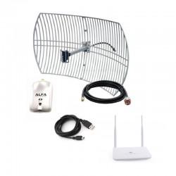 Parabolica WiFi Alfa com AWUS036NHR + ROTEADOR USB AIP-525HU