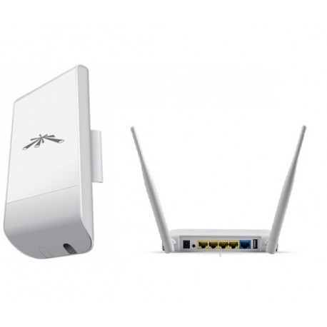 KIT WIFI Ubiquiti NanoStation LocoM2 + router neutral neutral