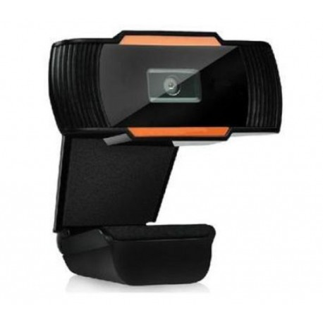 Webcam com microfone para videoconferência grande angular visão
