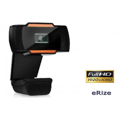 Webcam Full HD (1920 x 1080), microfone e lente grande angular