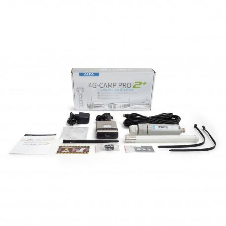 Kit Alfa 4G Camp-Pro 2+ para Internet LTE SIM e compartilhamento de WIFI