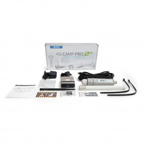 Kit Alfa 4G Camp-Pro 2+ para Internet LTE SIM e