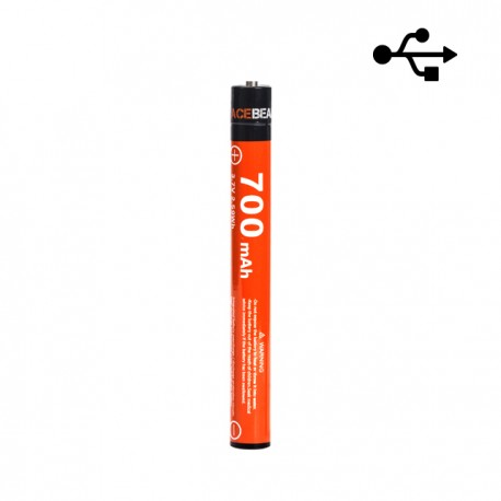 10900 ACEBEAM 700mAh bateria recarregável por cabo Micro-USB