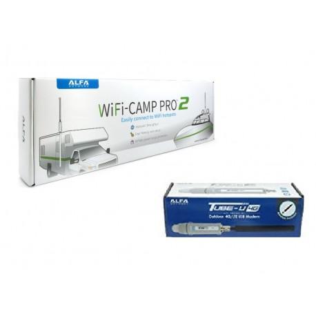 Pacote WiFi Camp Pro 2 + Tube 4G com internet com tudo incluído