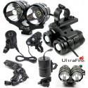 Powerful rechargeable LED bike headlight for mountain bike