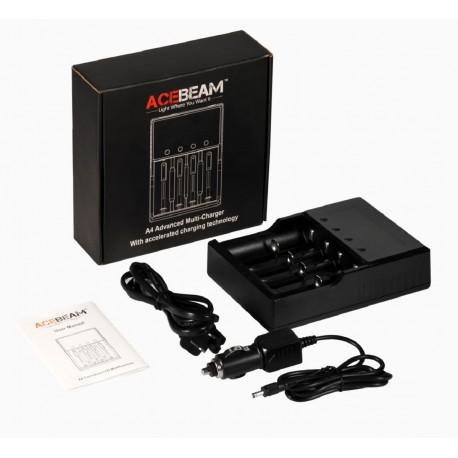 Carregador de múltiplas baterias A4 ACEBEAM para lanternas
