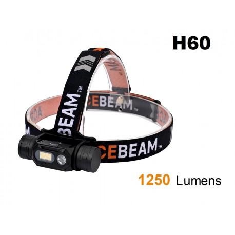 Acquista la lampada frontale ACEBEAM H60 SunLike 5000K CRI97