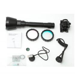 IMALENT UT90 'Predator' LED flashlight hunting kit green red