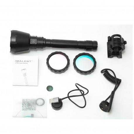 Kit de chasse rechargeable pour lampe de poche à DEL rouge vert