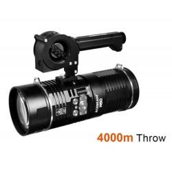 Lanterna laser branca Acebeam W50 LEP com alcance de 4 km