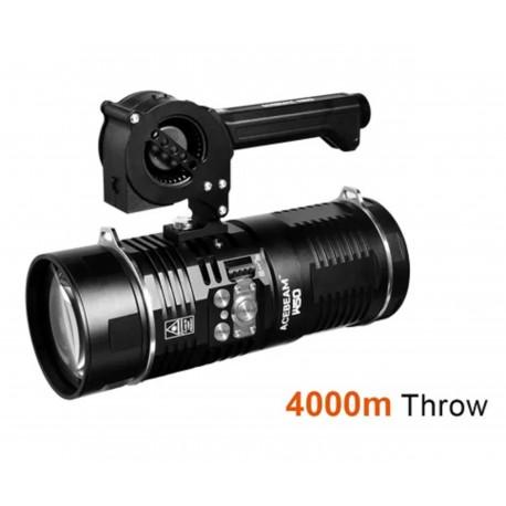Lampe torche laser blanche Acebeam W50 LEP portée 4km