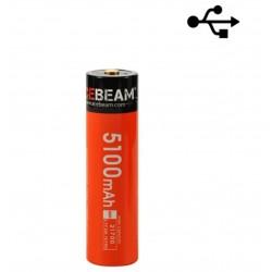 battery ACEBEAM 21700 lithium USB rechargeable USB-C 5100mAh