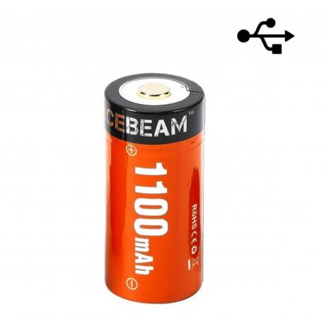 ACEBEAM IMR18350-110A com bateria recarregável de porta USB