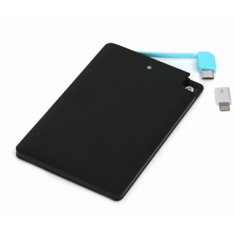 Omega Power Bank 2000mAh black micro USB lightning iphone