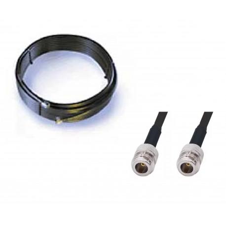 Rallonge de câble LMR400 9 Mètres N Femelle / N Femelle antenne