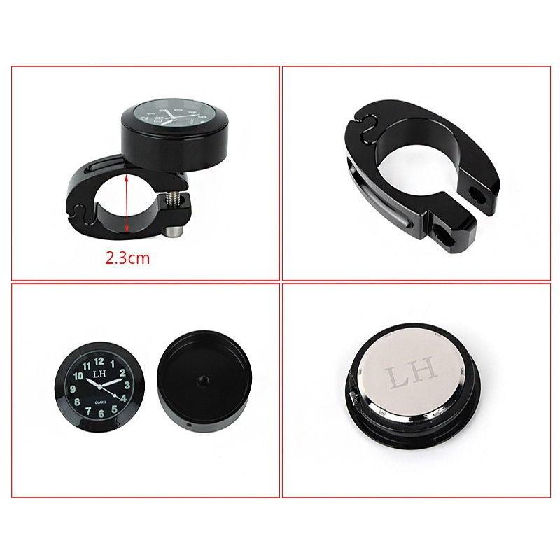... Horloge analogique pour la barre de guidon de moto étanche en ... a1835f8330e