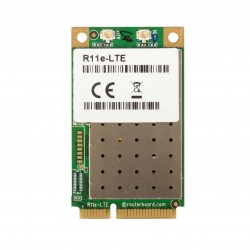 Tarjeta miniPCi-e Mikrotik R11e-LTE 2G / 3G / 4G / LTE con 2
