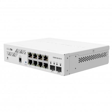 Mikrotik CSS610-8G-2S+IN Cloud Smart Switch mit 8 x Gigabit-Ports, 2 x SFP