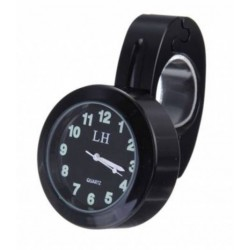 Orologio analogico per barre manubri moto impermeabile nero metallo