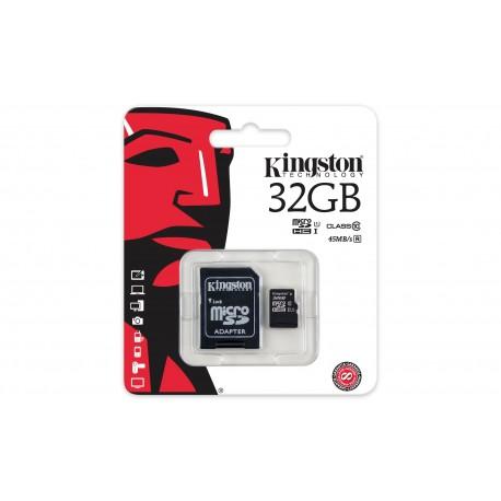 microSDHC 32GB classe 10 Kingstone SDC10G2 UHS-I