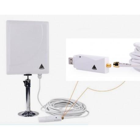 Pannello di antenna WIFI con adattatore USB RTL8188RU cavo coassiale SMA 10 metri