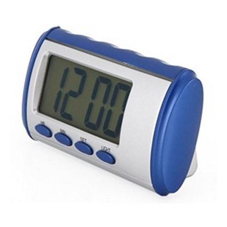 Orologio parlante in espñaol voce che parla e racconta il tempo di allarme digitale