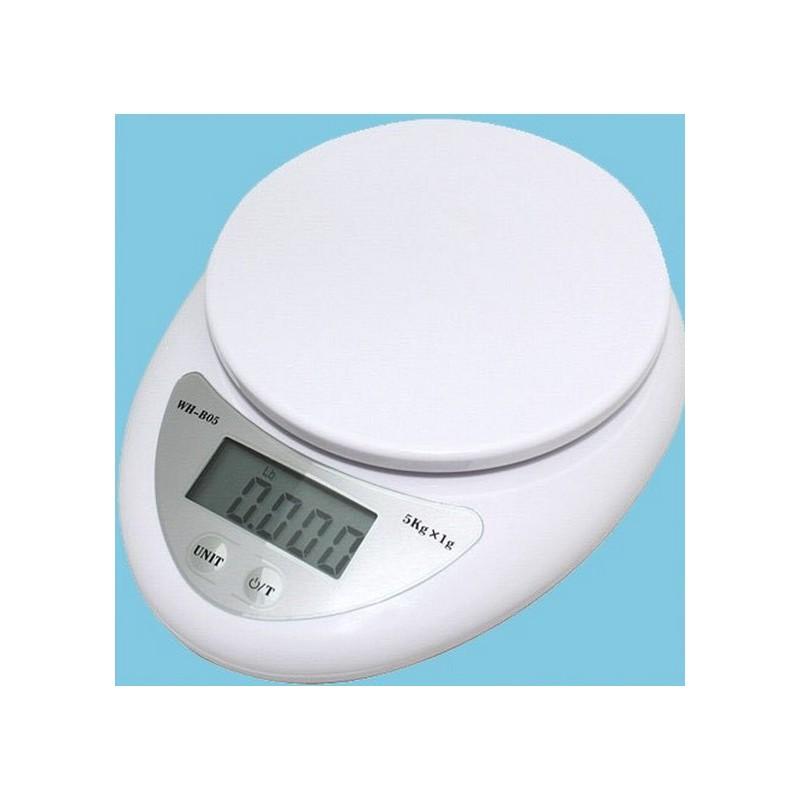 bascula de cocina precision digital para recetas dieta 5 kg g