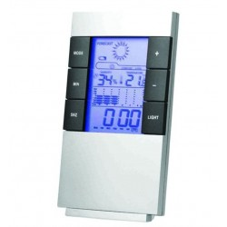 Deluxe Weather Station Clock Alarm Forecast Humidity PRITECH