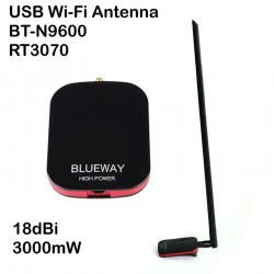 Antena WIFI 3000mW 18dbi adaptador USB potente Blueway N9600