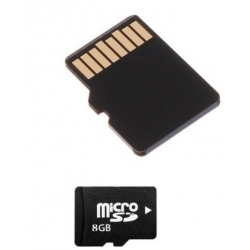 8GB microSD HC SD memory Card Class 4 + Adapter