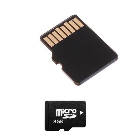 8GB microSD HC Tarjeta de memoria SD Clase 4 + Adaptador