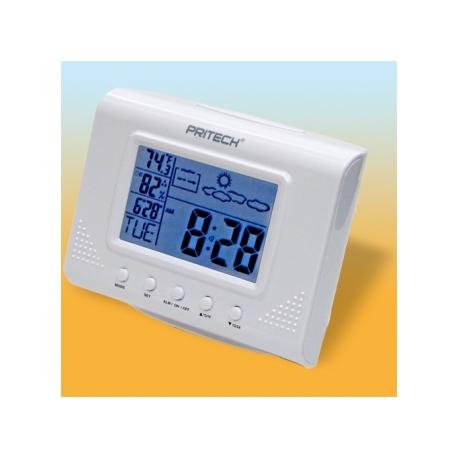 Estacion meteorologica luz retroiluminada LED reloj despertador