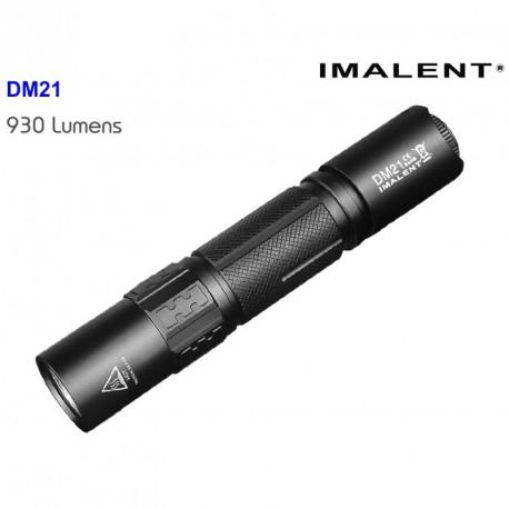 Linterna táctica DM21 recargable por microUSB con botón táctil autodefensa