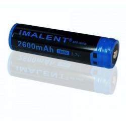 Bateria 18650 3.7v recarregável de Lítio 2600mAh Imalent protegida PTC Li-ion