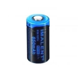 RCR123A 3.7 V batteria ricaricabile al litio Imalent 650mAh protetta