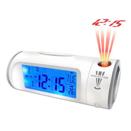 Reloj digital proyeccion LED control sonido despertador proyecta