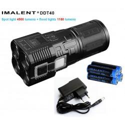 Imalent DDT40 potente 5680 lumenes torcia elettrica ricaricabile KIT completo di batterie