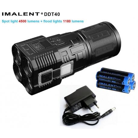 Imalent DDT40 potente 5380 lumenes torcia elettrica ricaricabile KIT completo di batterie