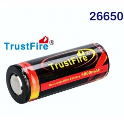 Batería recargable 26650 3.7v 5000mAh Pila con protección PCB Protegida