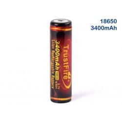 18650 3400mAh batteria al Litio recargabel 3.7 v TrusFire fiamma