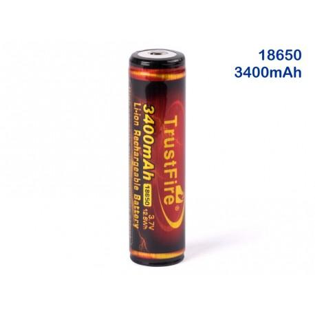 18650 3400mAh batería de Litio recargabel 3,7v TrusFire flame